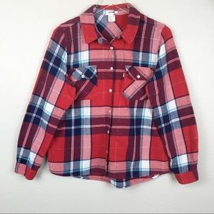 Levi's Plaid Button Up Long Sleeve Flannel